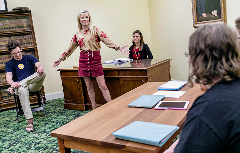 Students in mock trial