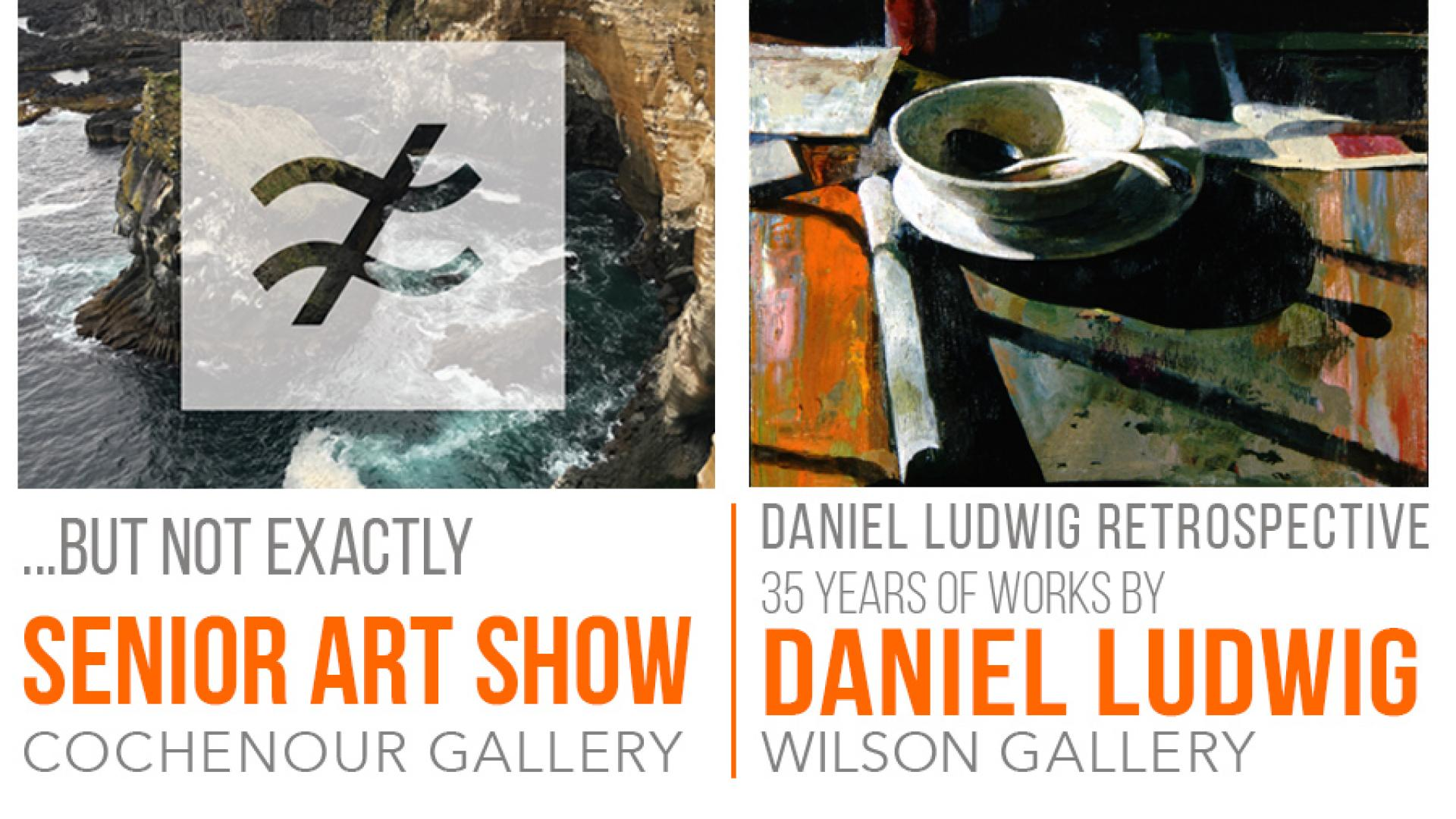 Gallery Exhibits Feature Senior Thesis Students and a Daniel Ludwig Retrospective
