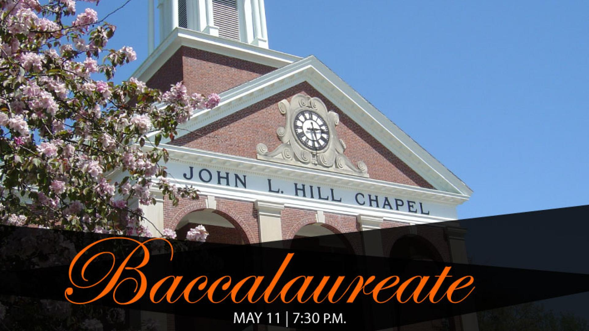 2018 Baccalaureate in John L. Hill Chapel