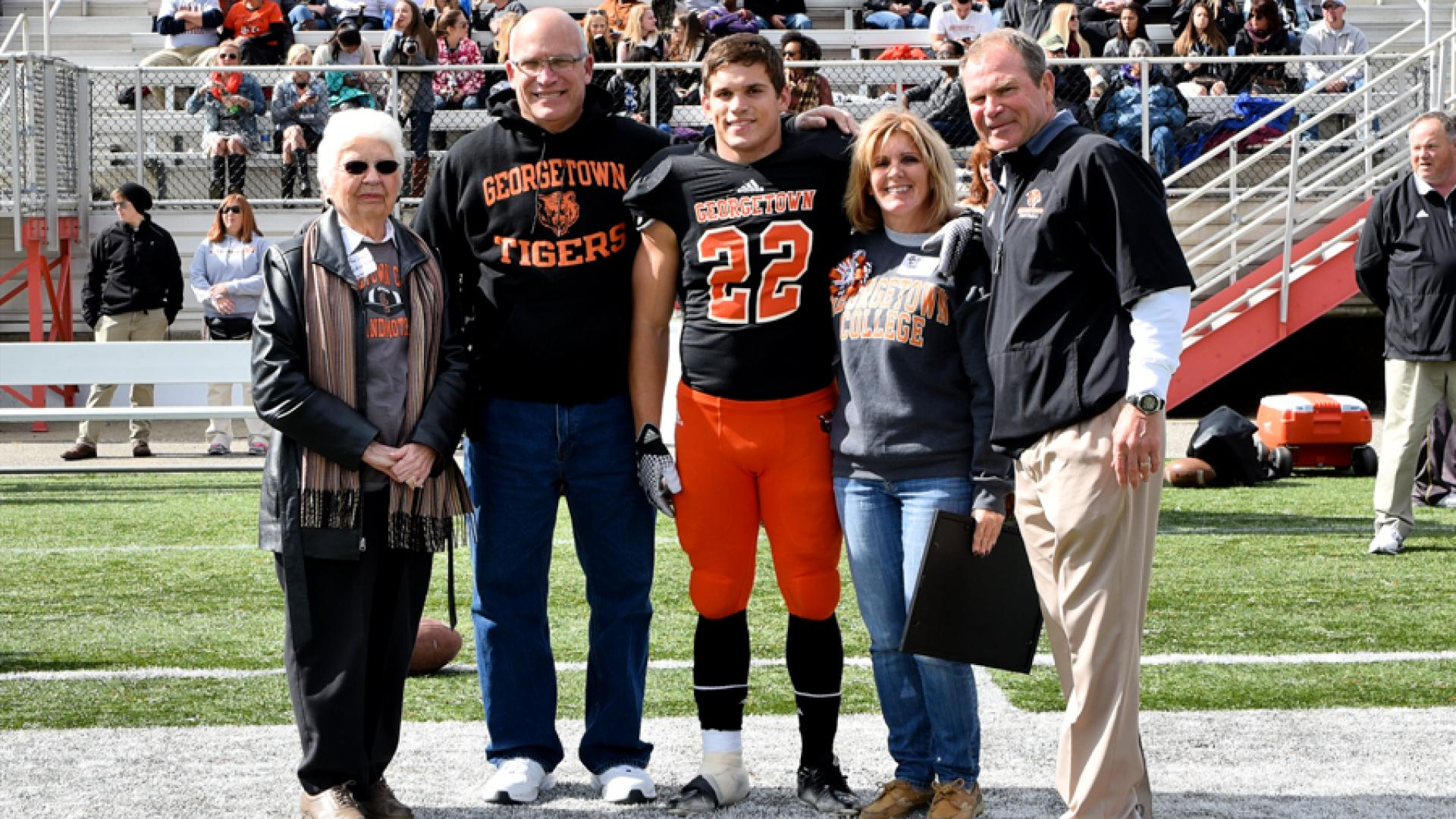 Ryan Sowder on Senior Day with family