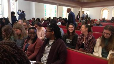Students at Worship in Alabama