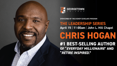 Chris Hogan Georgetown Alumnus speaking on April 15