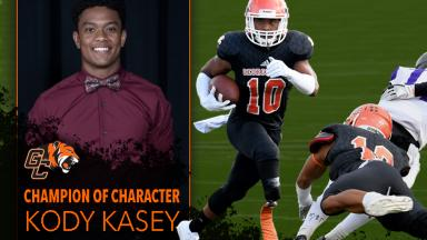Kody Kasey Receives Champion of Character Honor