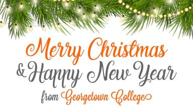 Merry Christmas and Happy New Year from Georgetown College