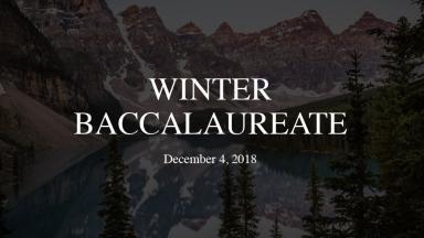 Winter Baccalaureate