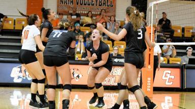 GC Players Celebrate Winning Point