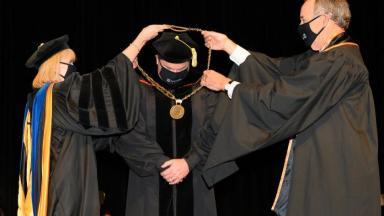 President Jones Receives Chain of Office